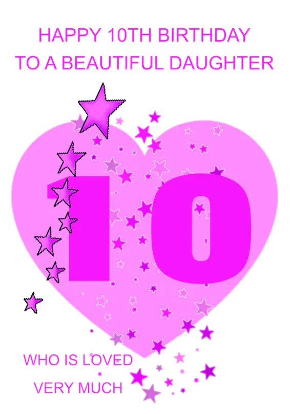 10th Birthday Wishes For Daughter : birthday, wishes, daughter, Daughter, Birthday