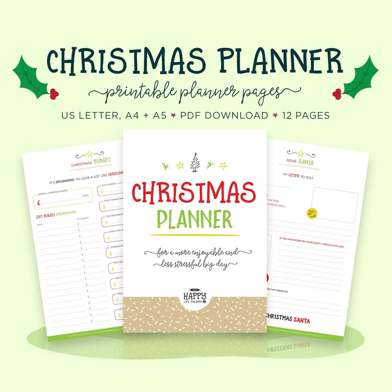 Christmas Planner Holiday Budget Christmas Printable