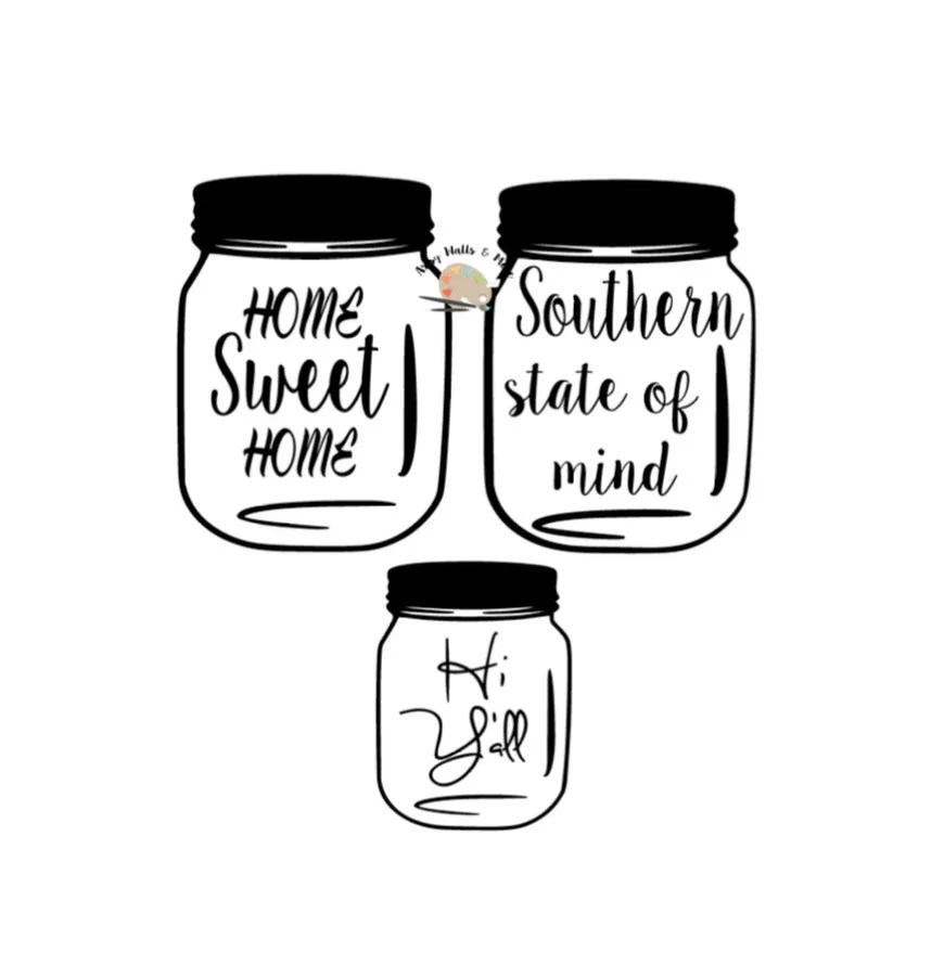 Home Sweet Home Mason Jar SVG file Cutting File JPEG PNG