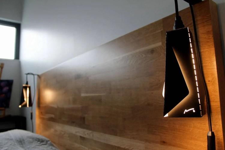 Suspension lamp metal pendant light, origami, rectangle, modern design home decor