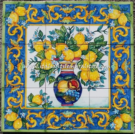 tile mural tile backsplash for kitchen wall murals etsy