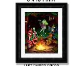 Fireside Tales 8 X 10 Art...