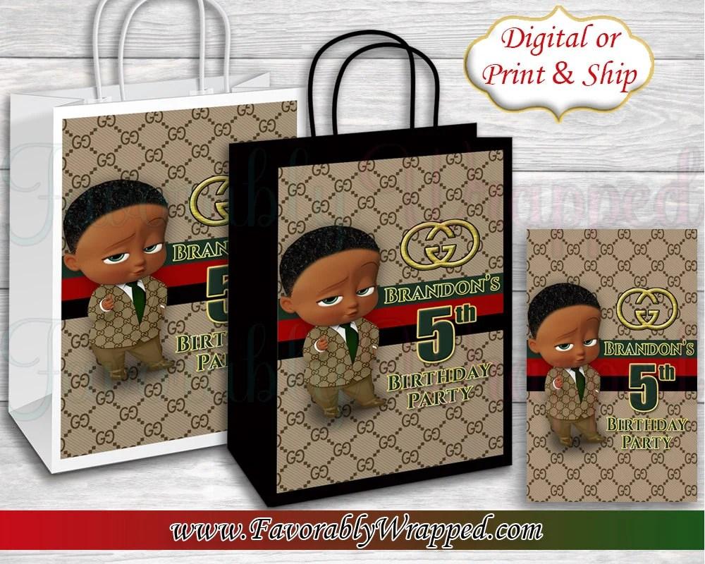 Boss Baby Gift Bag Label Boss Baby Birthday Boss Baby Etsy