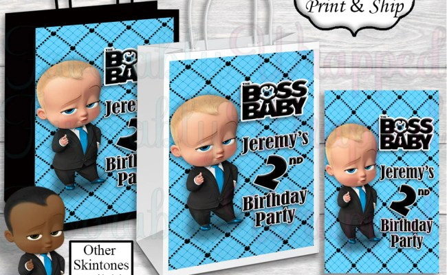 Boss Baby Gift Bag Label Boss Baby Birthday Boss Baby Etsy