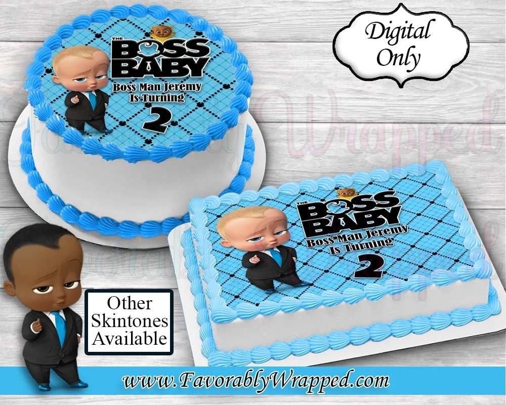 Boss Baby Cakeimage Boss Baby Party Boss Baby Birthday Edible Etsy