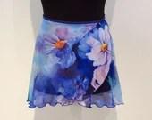 """Ballet wrap skirt """"Water lilies"""", handmade"""