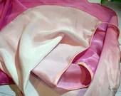 Ombré ballet wrap skirt rose-white, handmade