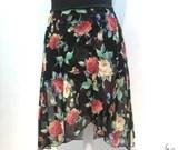 Ballet wrap skirt Gorgeous Roses, handmade