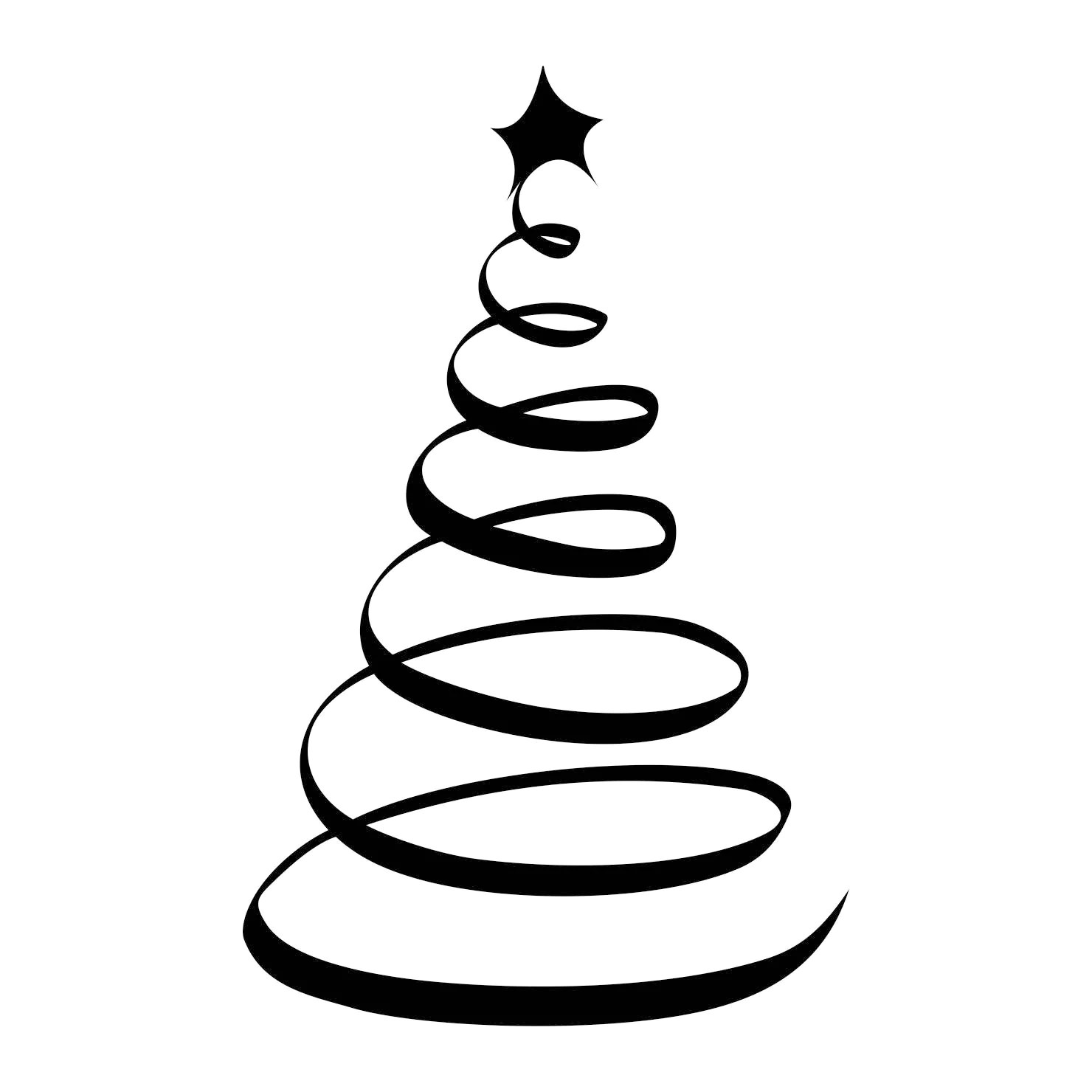Christmas Tree Star Ornament Graphics Svg Dxf Eps Cdr