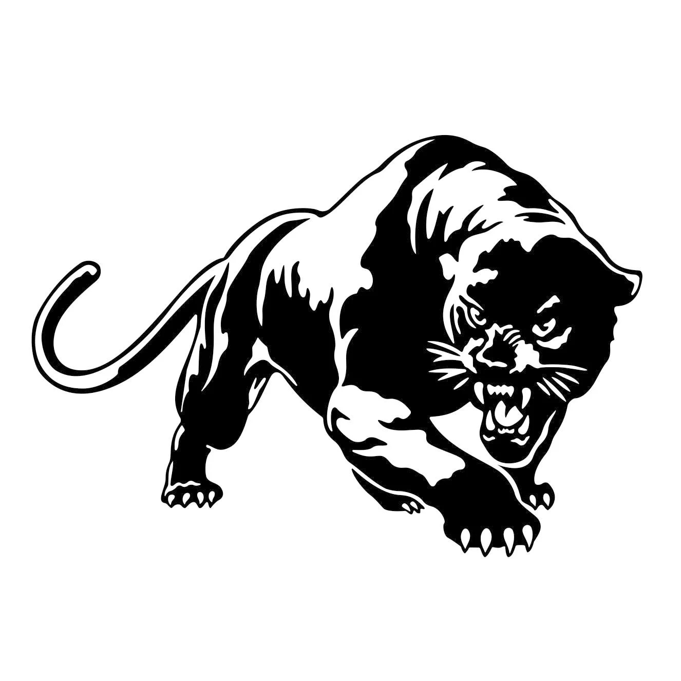 Puma Cougar Panther Graphics SVG Dxf EPS Png Cdr Ai Pdf