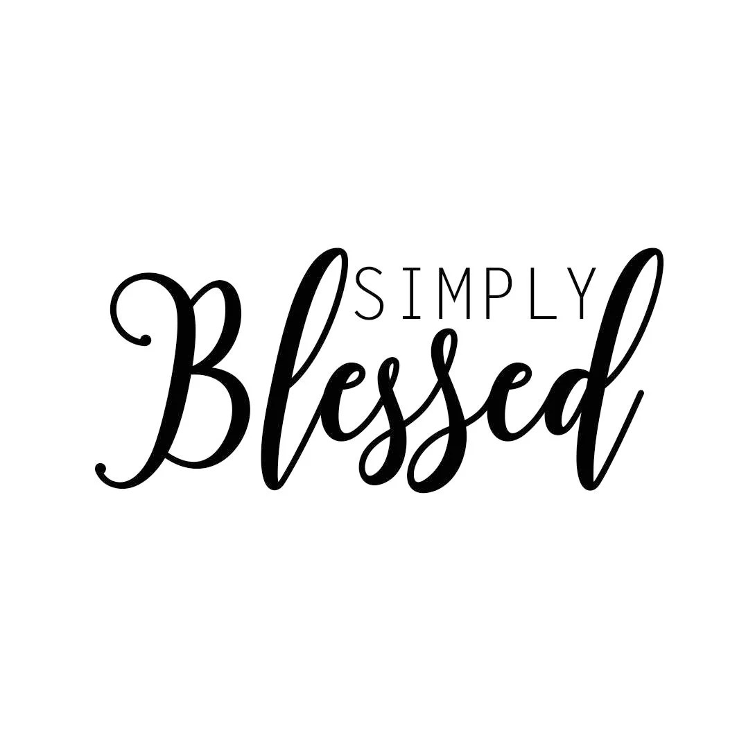 Simply Blessed Phrase Graphics Svg Dxf Eps Cdr Ai
