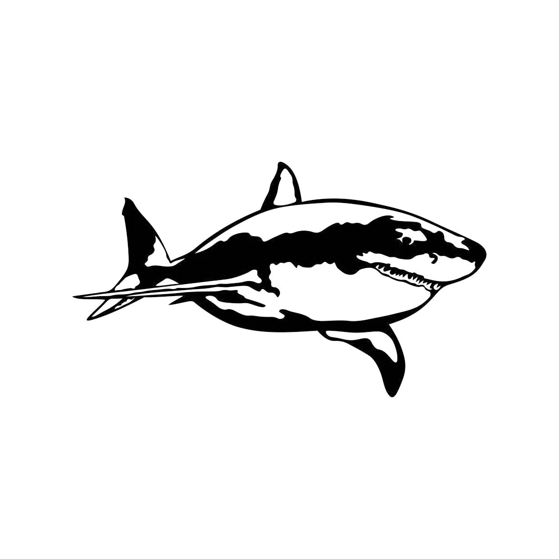Great White Shark Graphics Svg Dxf Eps Cdr Ai