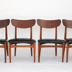 Danish Modern Dining Chair Cover Rentals Peterborough Mid Century Chairs Set Of 4 Etsy Image 0