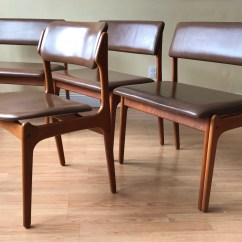 Erik Buck Chairs Office Chair Retaining Clip Etsy 4 Pieces Buch Teak Leather Wide Modular Dining Benches And Model 49 By Od Mobler