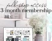3-month Full Shop Membership Access | Canva Templates | Stock Photos | Graphics | Mockups