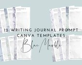 Blue Marble Writing Journal Writing Prompts Canva Templates | Goodnotes Template