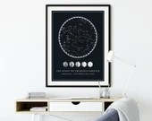 Custom Star Map, Night Sky Printable, Personalized Gift, Wedding Gift, Engagement Gift, Anniversary Gift, Valentine's Gift