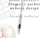 Blog Facelift: Author Website Design - Theme, 3rd Party Email Integration, Banner Images, Homepage or Landing Page Design