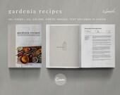 Gardenia Recipe Book Canva Template Set - GARDENIA - 40 Pages, Recipe Template, Cookbook Template, Magazine Template