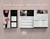 30 Canva Workbook Templates | Worksheet Templates | Rose Gold Template | Blush & Ivory Canva Template