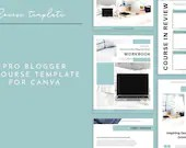Pro Blogger eCourse Workbook Canva Template | Lead Magnet eCourse | Opt-in Freebie eCourse Workbook