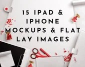 iPad Mockups Red Styled Flat Lay Product Mockups eBook Mockups Cover Mockups PSD Templates