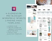WordPress Page Templates for Elementor Pro - Landing Page, Pricing Guides, About, Contact, Blog Post Template