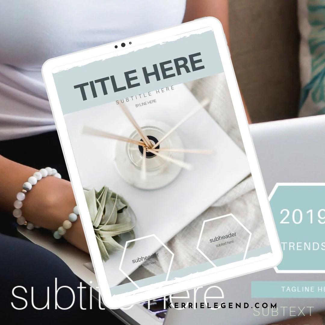 Pro Blogger Canva Template Set