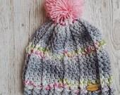 Pom pom hat, toddler hat,...