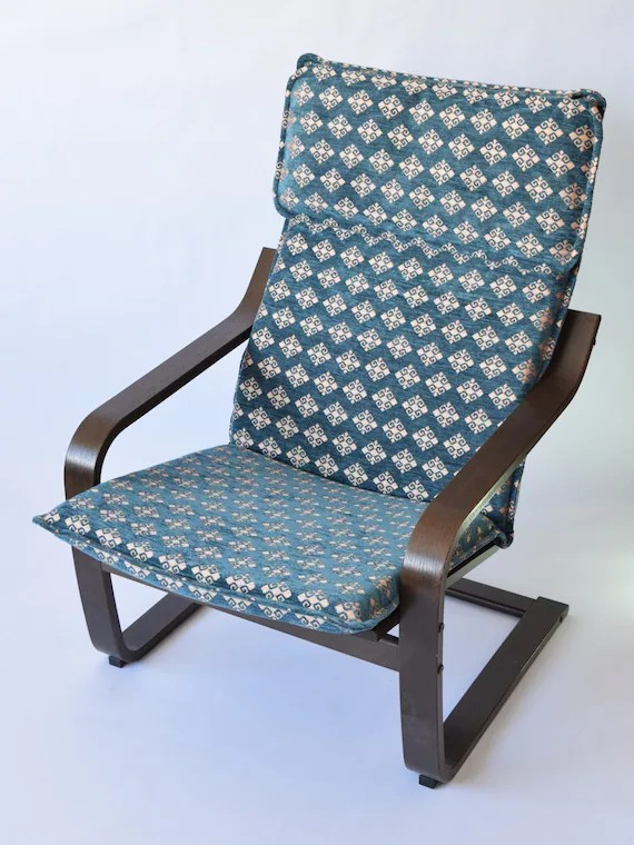 how much fabric to cover a chair cushion ozark folding ikea poang f18 etsy image 0