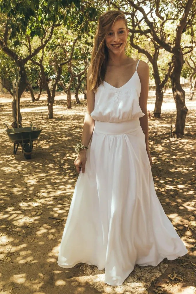 Peasant style wedding dress Wedding dresses 2017 bohemian  Etsy
