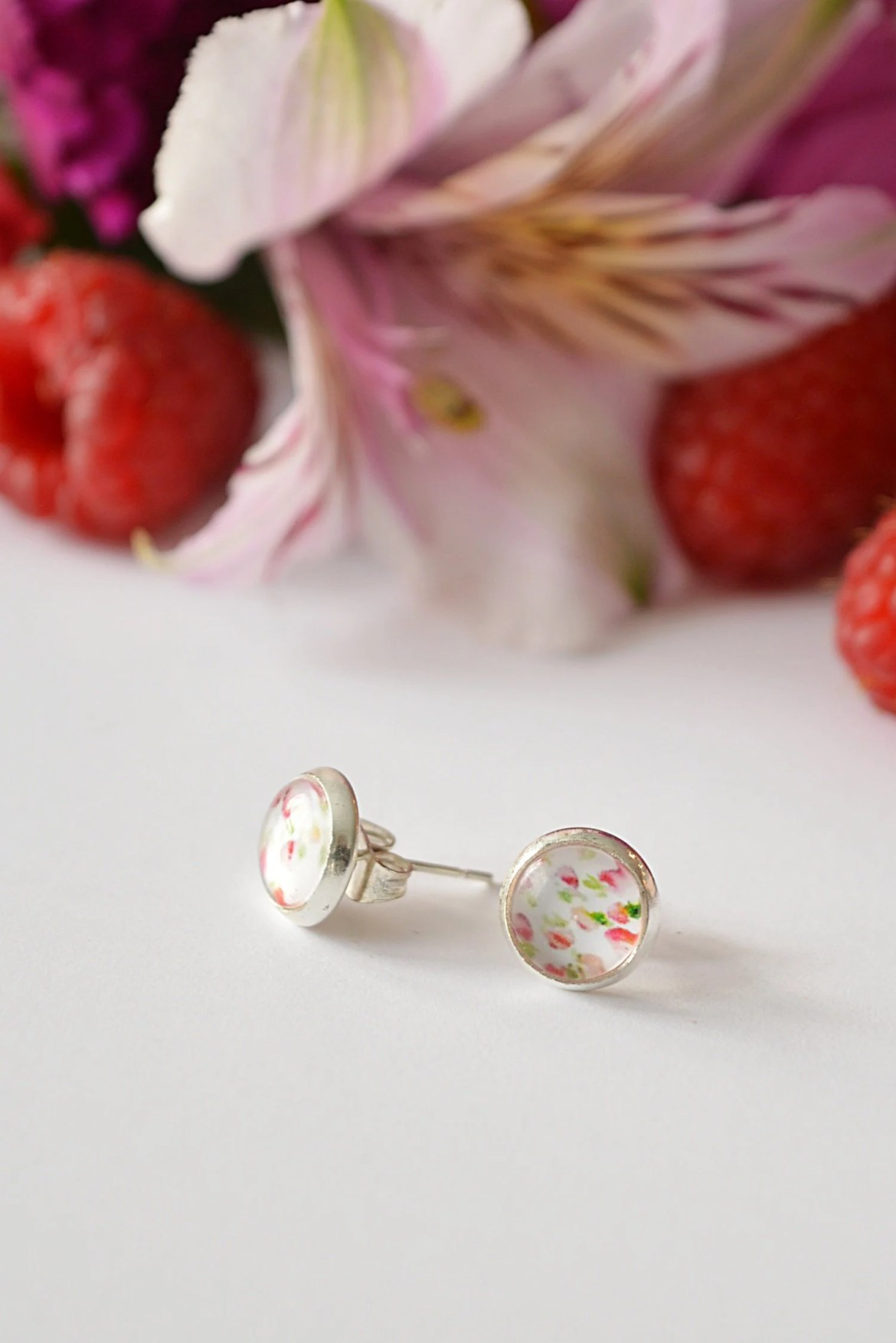 Petite Pink Floral Round ...