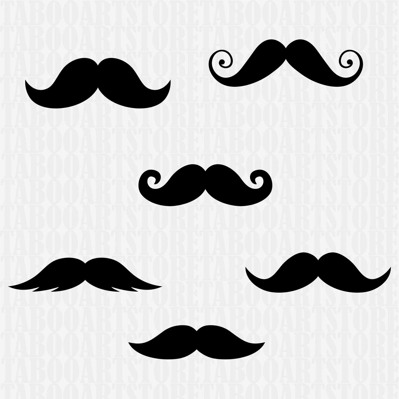 Mustache Svg File Mustache Clipart Mustaches Silhouette