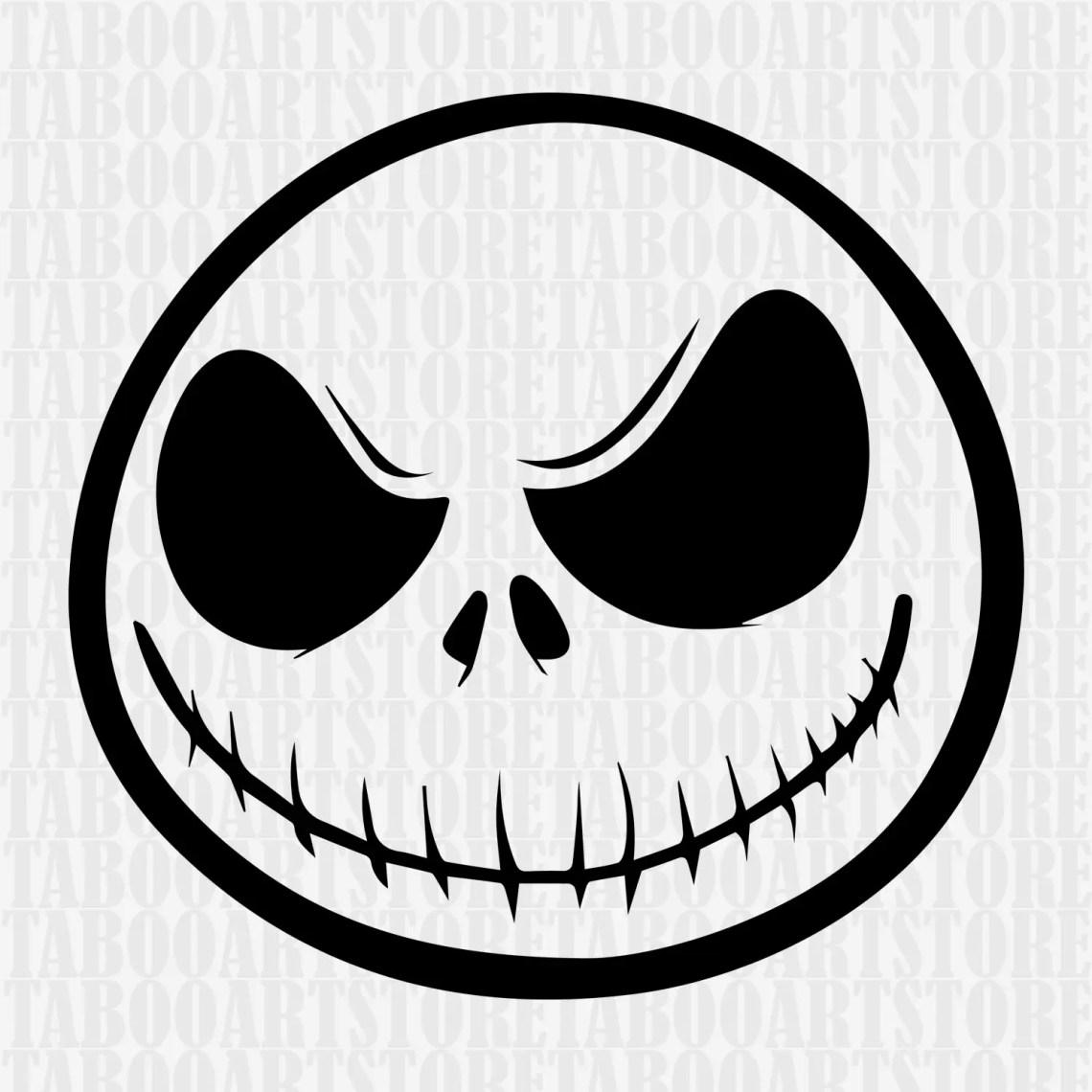 Download Jack skellington stenciljack skellington SVG Nightmare | Etsy