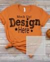 Bella Canvas Unisex 3001 Burnt Orange Shirt Mockup Orange Etsy