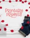 Valentines Shirt Mockups Bella Canvas 3001 White Flatlay Photo Etsy