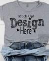 Next Level 6360 Heather Grey Dolman T Shirt Mock Up Flatlay Etsy