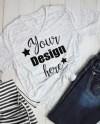 Bella Canvas V Neck 3005 White Marble T Shirt Mockup Shirt Etsy