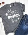 T Shirt Mockup Unisex Poly Cotton Short Sleeve T Shirt 3650 Etsy