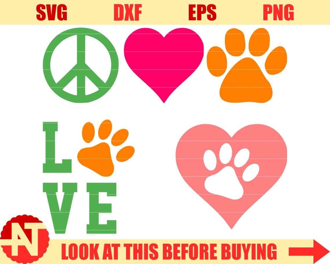 Download Love Paw svg Love svg Paw svg Pet svg Dog svg Cat svg ...