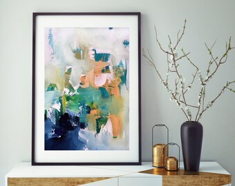 modern artwork for living room sears furniture leather art etsy original all print abstract painting poster large sizes prints decor