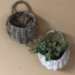 Small Wall Basket Bebb Basket Home Decor Willow Wall