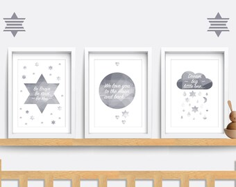 moon nursery art etsy