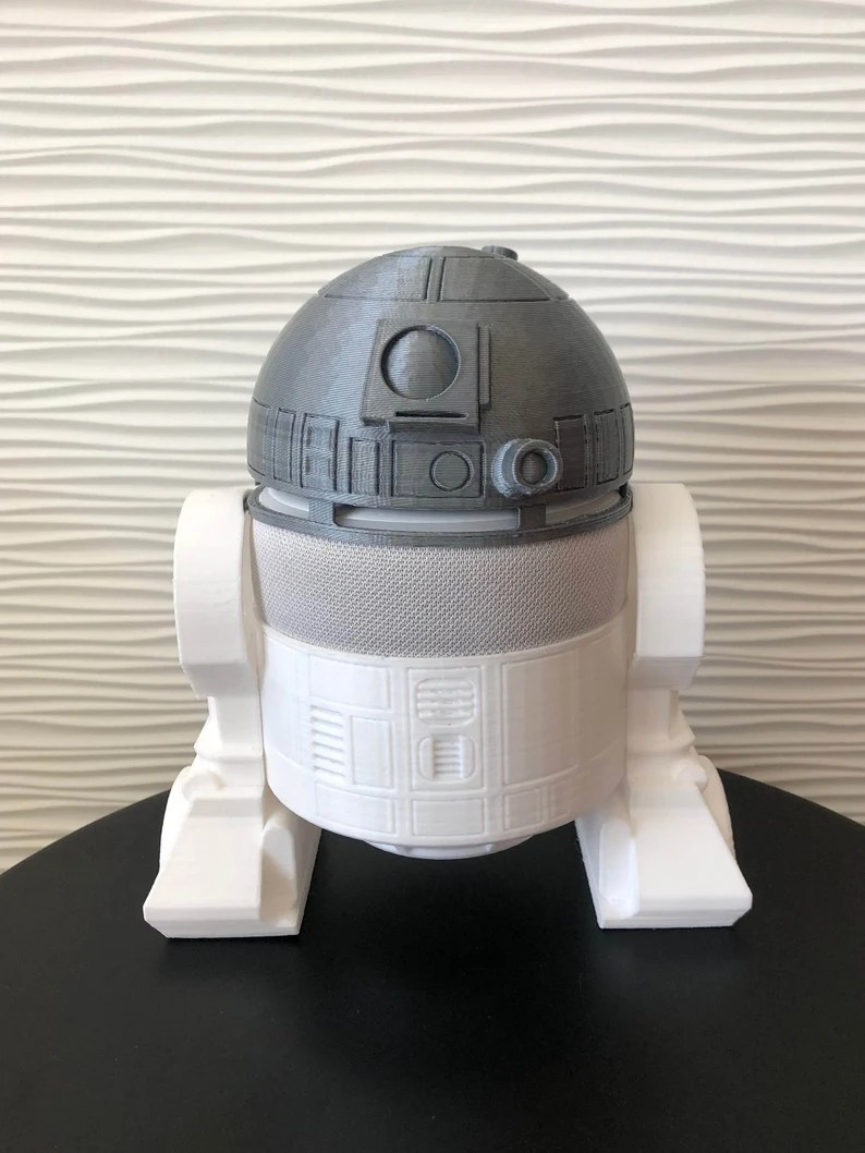 Amazon Echo Dot  R2D2 inspired accessory  All Black or White image 2