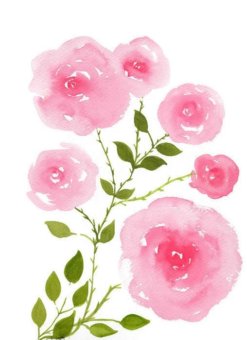 pink roses painting rose