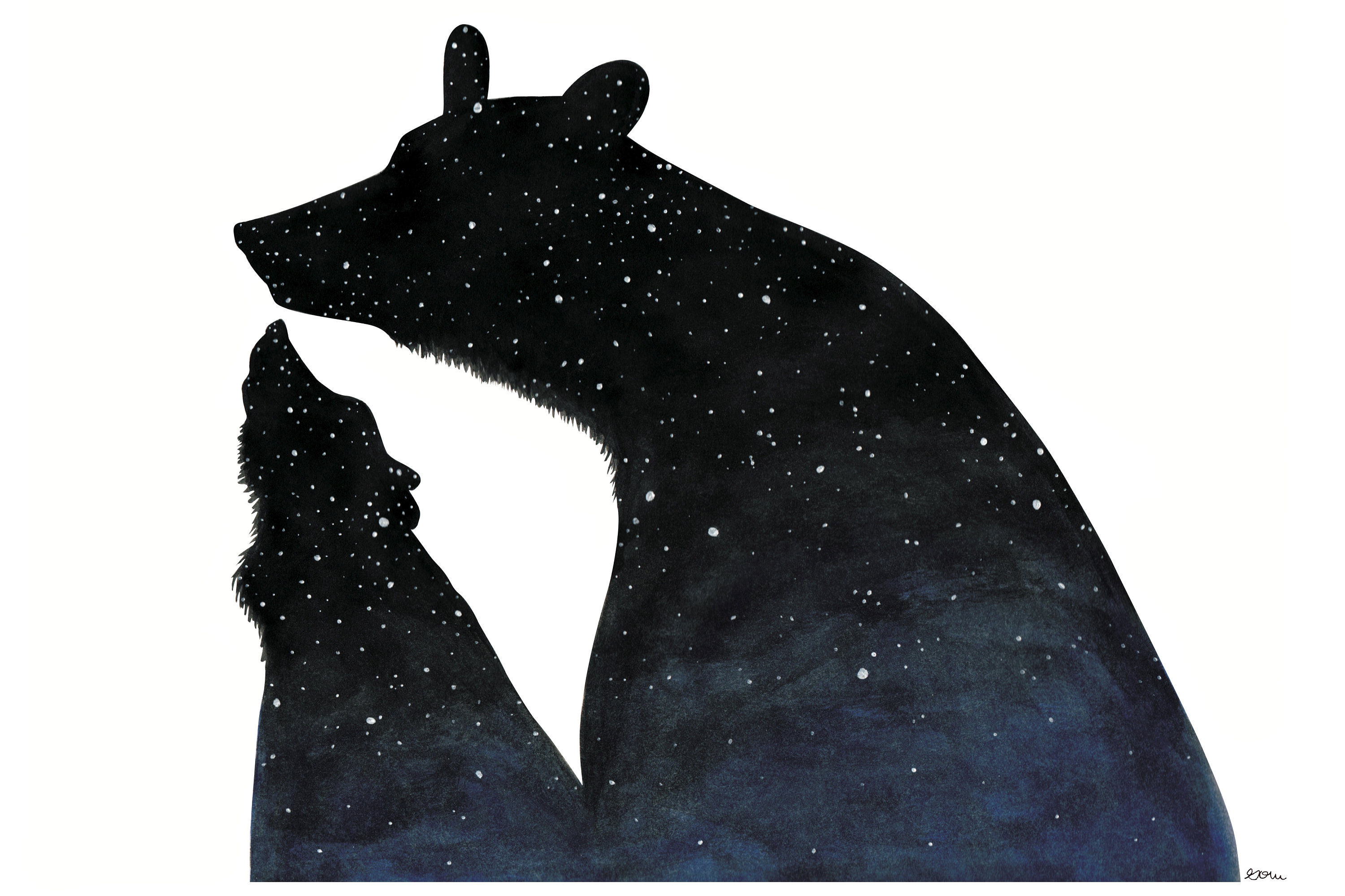 Arcas And Callisto Big And Little Dipper Great Bear And