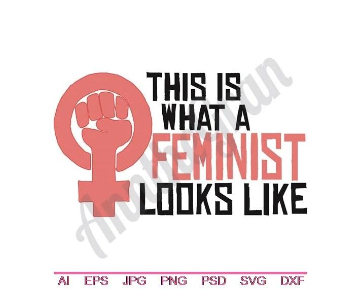 feminism logo svg dxf