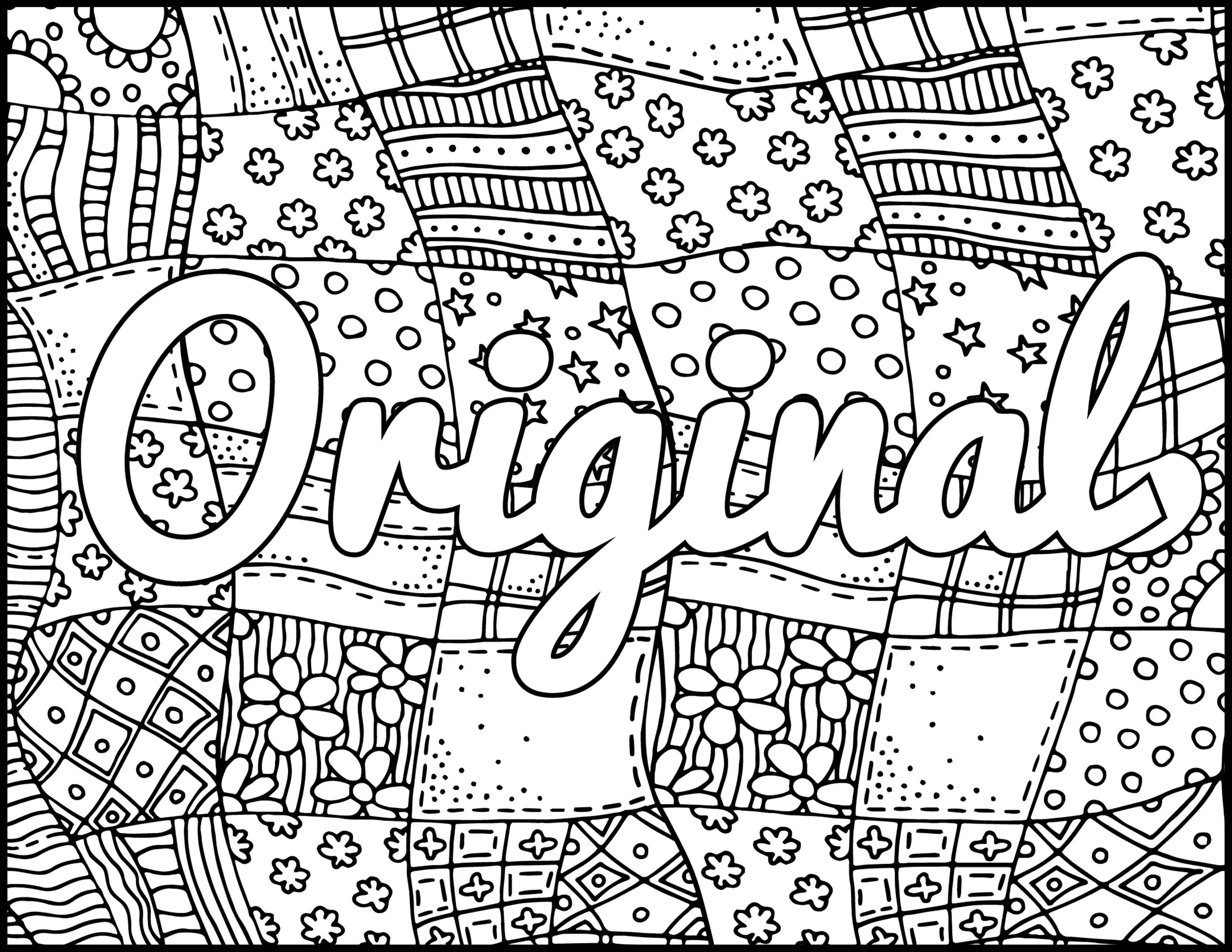 I Am Original Printable Coloring Page Positive Coloring