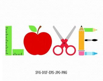 Download Teacher love svg | Etsy