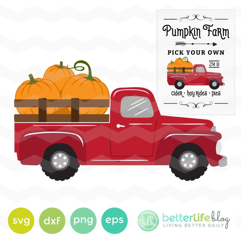 Pumpkin Truck SVG File: P...